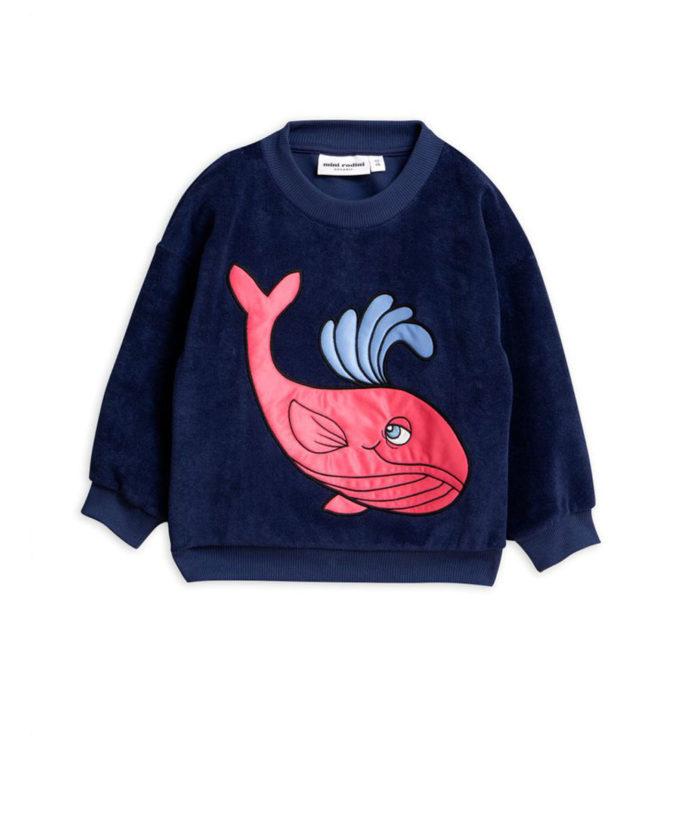 Sweatshirt Whale Navy auf www.mina-lola.com von Mini Rodini