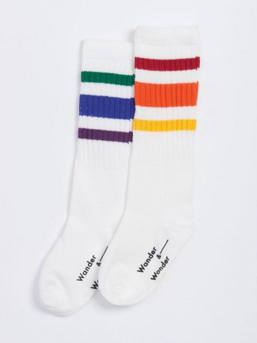 Tennis Socken White Multi von auf www.mina-lola.com von Wander & Wonder