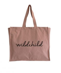 Tote Bag Wildchild in Nude von My Mini Label auf www.mina-lola.com