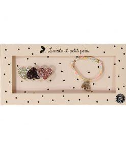 Geschenkset Brosche&Armband Neon Luciole et Petit Pois