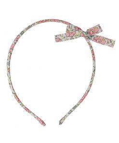 Haarreifen Fleuri Rose Saumon auf www.mina-lola.com von Luciole et Petit Pois.