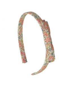 Haarreifen Kimono Fleuri Rose Saumon auf www.mina-lola.com von Luciole et Petit Pois