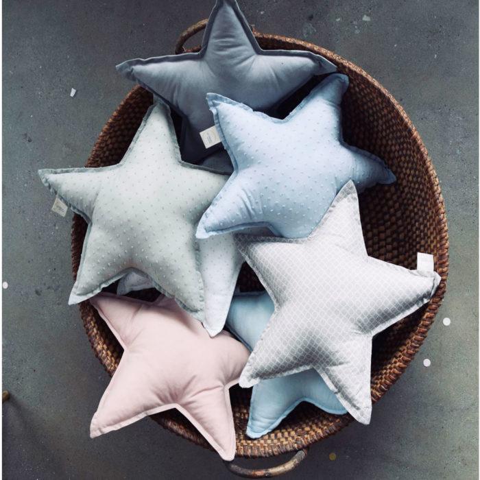 Kissen Happy Stars von Lilli-Marleen auf www.mina-lola.com