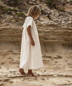 Kleid Gabbi Kids Terracotta Moumout auf www.mina-lola.com