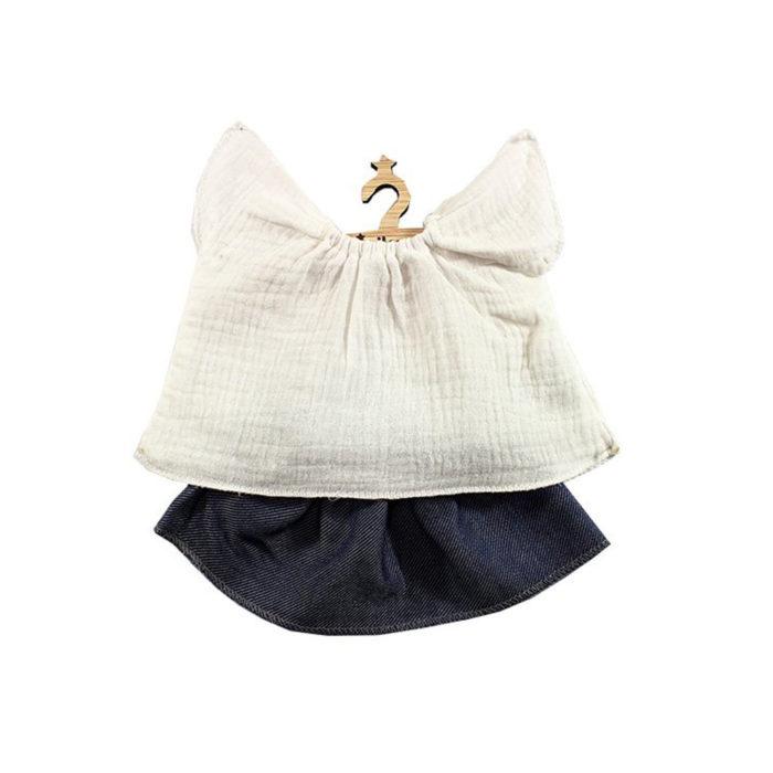 Puppenkleidung RÉJANE Denim auf www.mina-lola.com von Minikane