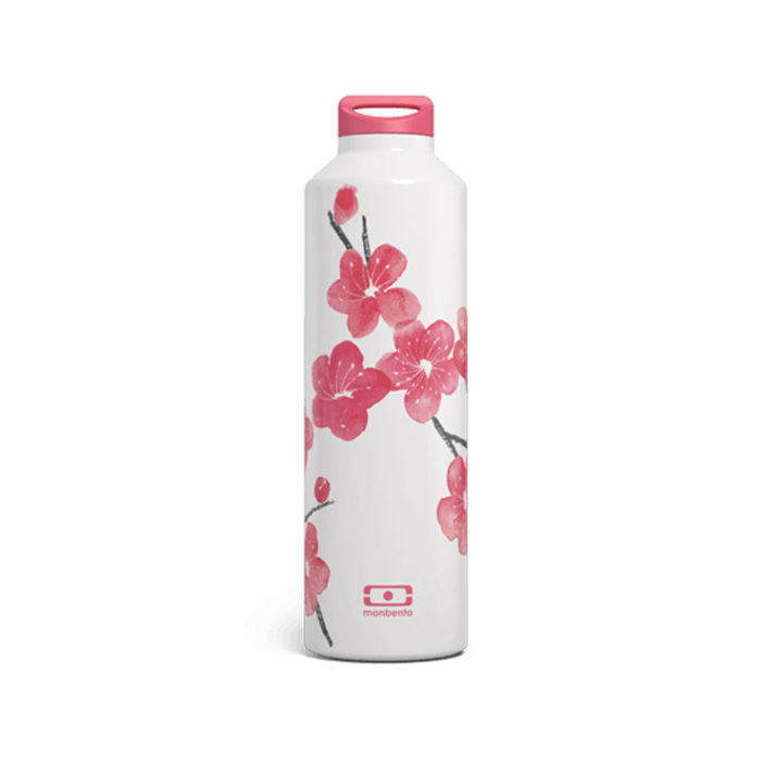 Trinkflasche MB Steel Blossom Monbento auf www.mina-lola.com