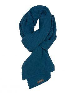 WAYDA Schal Teal Blue LONG auf www.mina-lola.com
