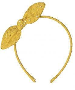 Haarreifen Bunny Mustard Gold Dots auf www.mina-lola.com von Luciole et Petit Pois