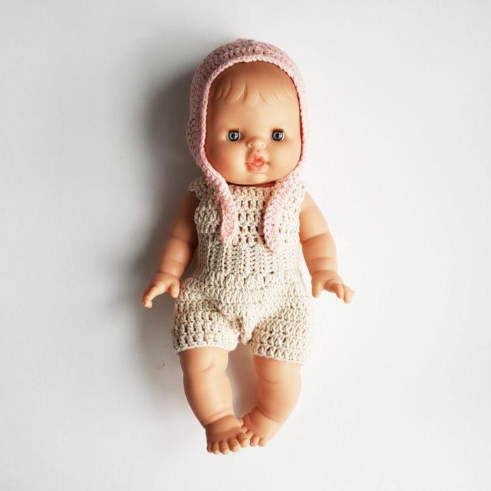 Puppenkleidung Romper Beige auf www.mina-lola.com von Dolls and Pups