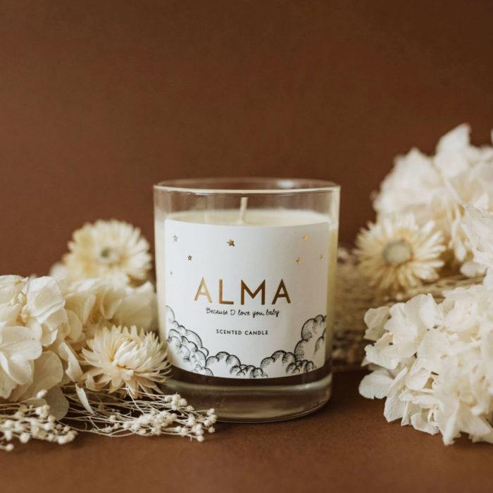 Alma Organic Scented Candle auf www.mina-lola.com