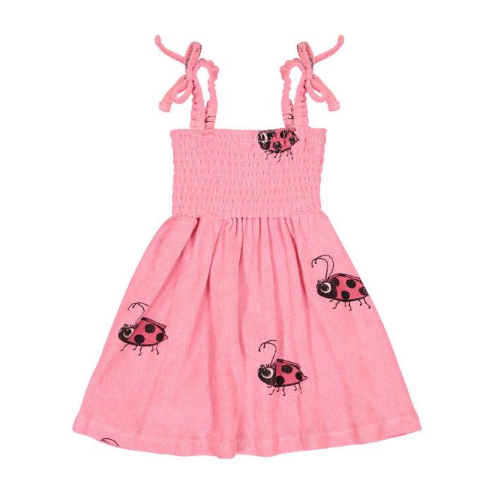 Dress Terry 80's Pink Ladybug Hugo Loves Tiki auf www.mina-lola.com