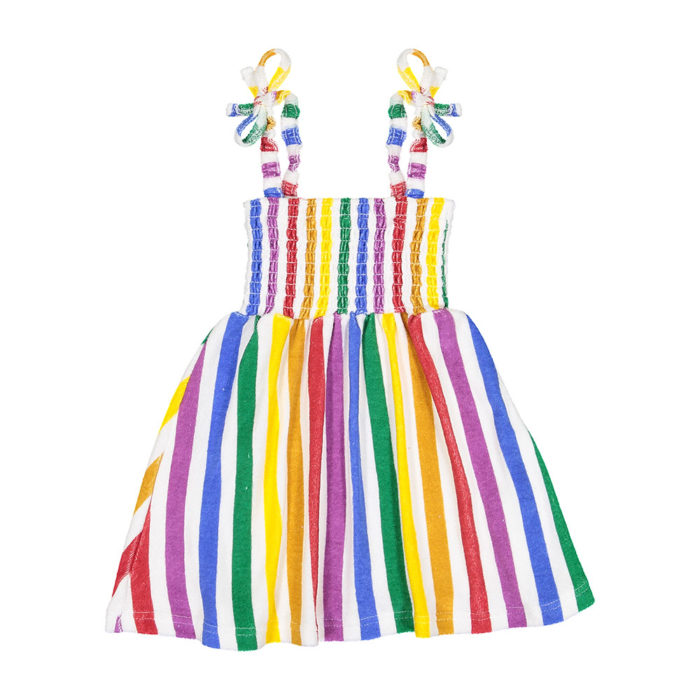Dress Terry 80's Rainbow Stripes Hugo Loves Tiki auf www.mina-lola.com