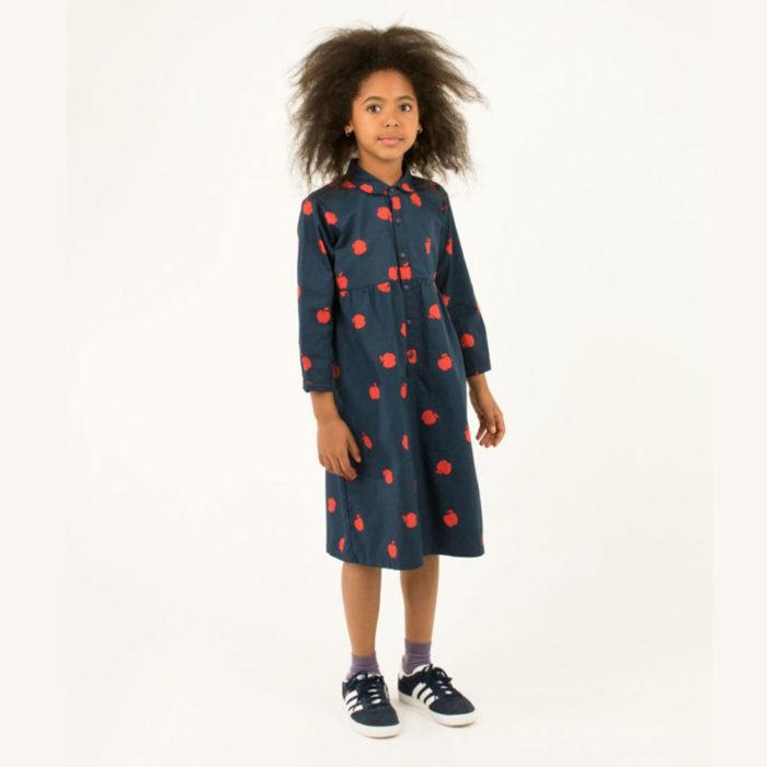 Kleid APPLES True Navy von Tinycottons auf www.mina-lola.com