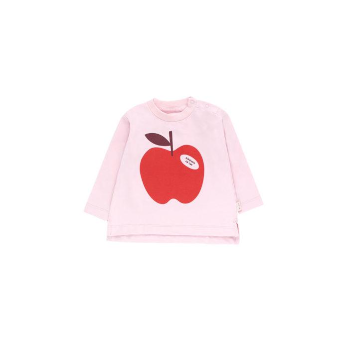 Baby Shirt APPLE Tee Pale Pink von Tinycottons auf www.mina-lola.com