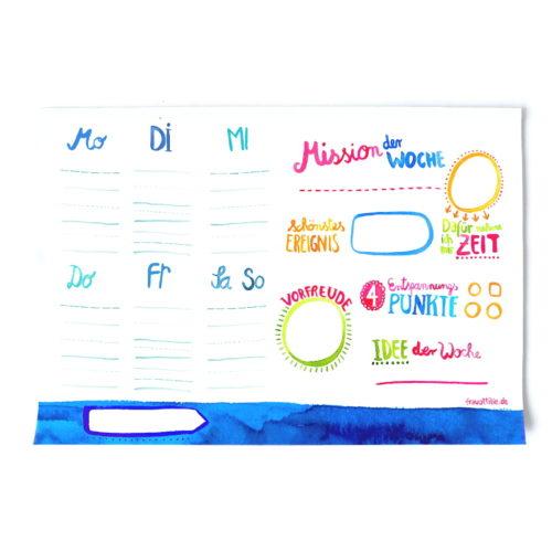 Wochenplaner von Frau Ottilie auf www.mina-lola.com