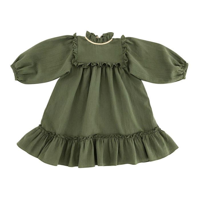 Kleid LIANA Woman Olive von Liilu auf www.mina-lola.com