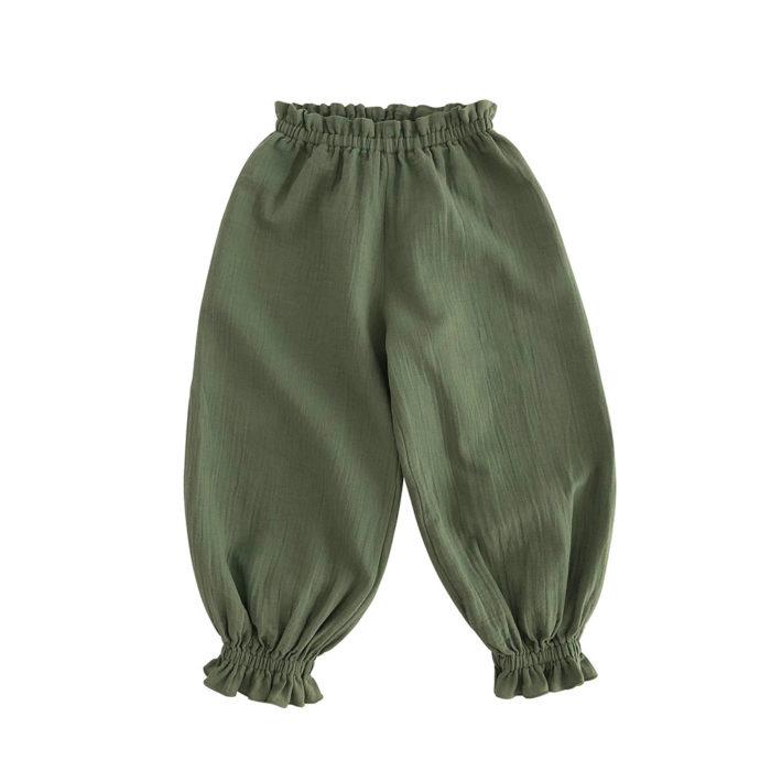 Pants LOU Olive von Liilu auf www.mina-lola.com