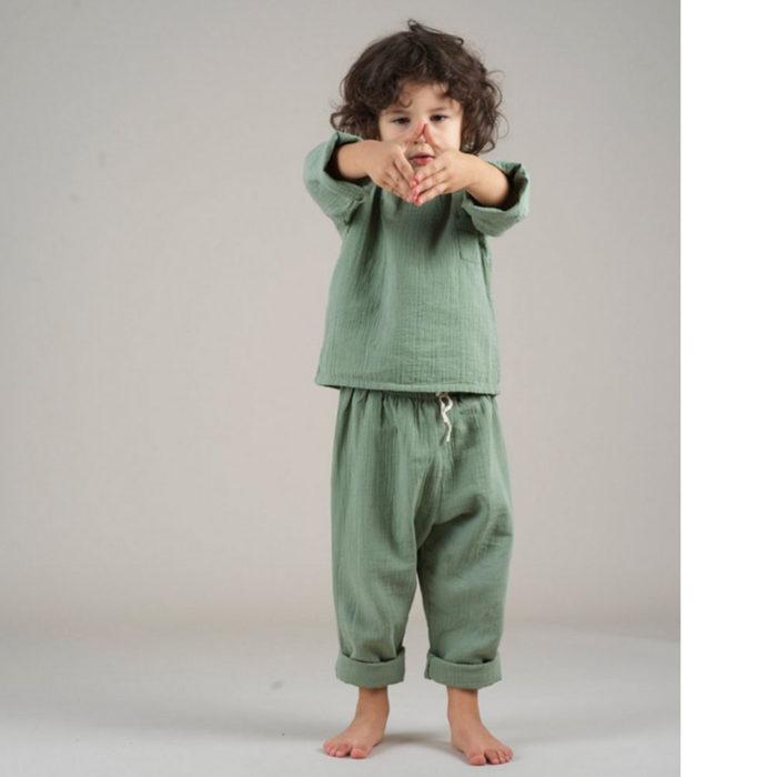 Pants TAVI Hazy Blue von Liilu auf www.mina-lola.com