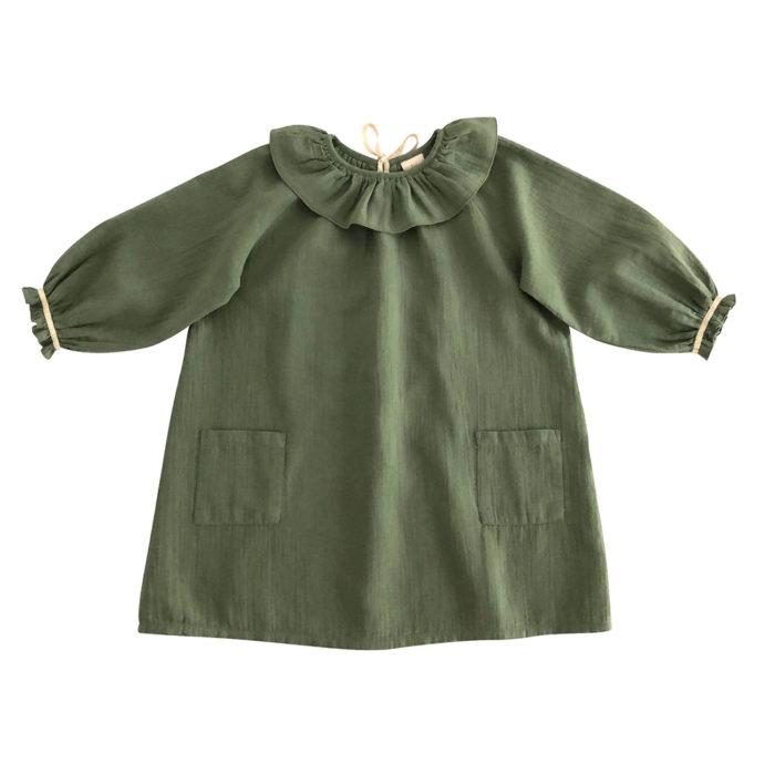 Kleid OANA Olive von Liilu auf www.mina-lola.com