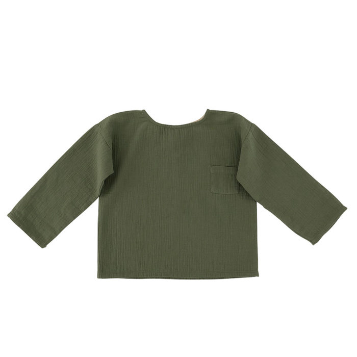 Oversized Shirt Olive von Liilu auf www.mina-lola.com