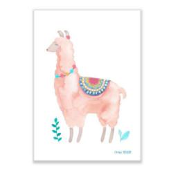 Print A4 Lama auf www.mina-lola.com von Frau Ottilie