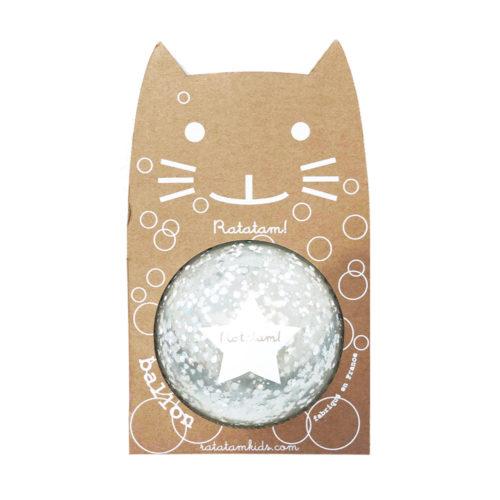 Kleiner Bubble Ball Silver 12cm von Ratatam auf www.mina-lola.com