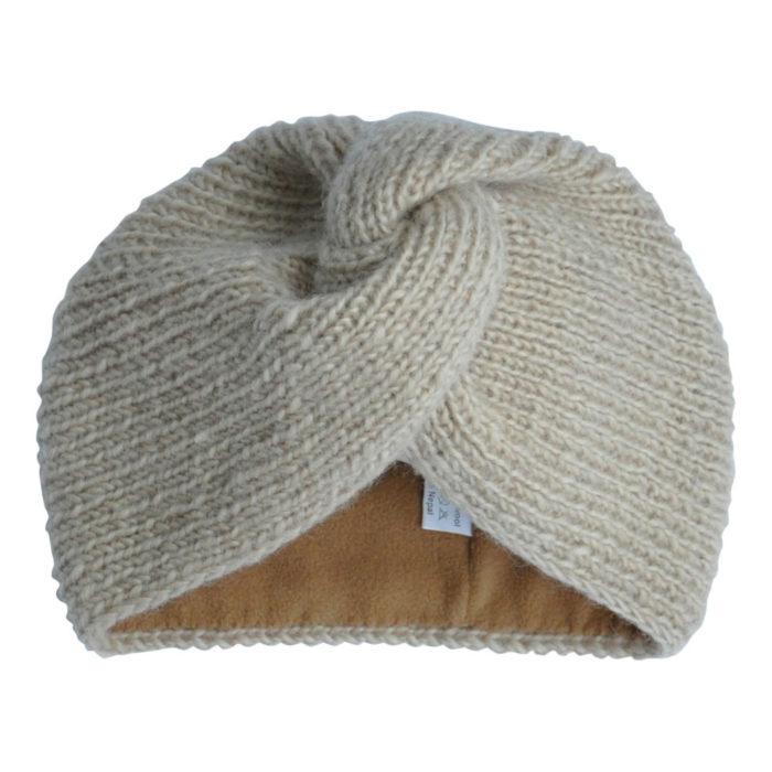 Turban Hat ADULT Beige von Hats Over Heels auf www.mina-lola.com