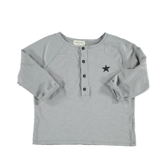 Shirt Langarm Grau von Piupiuchick auf www.mina-lola.com