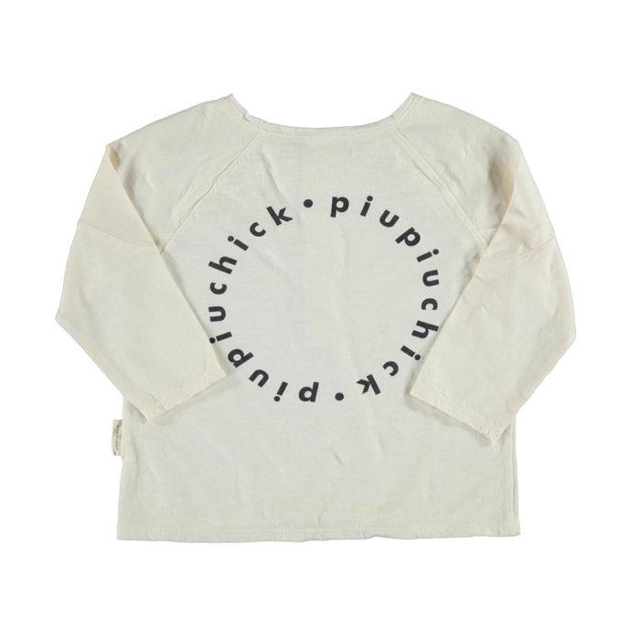 Shirt Langarm Ecru von Piupiuchick auf www.mina-lola.com