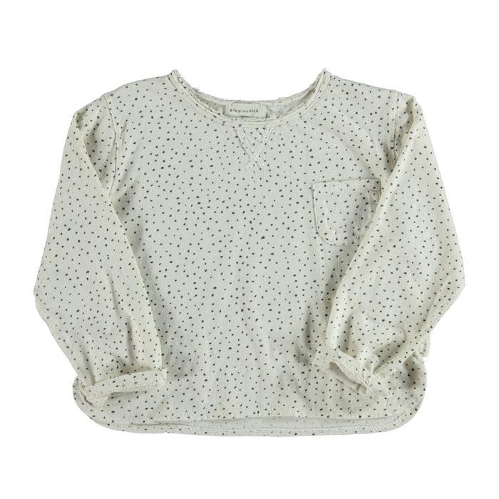 Shirt Langarm Ecru/Dots von Piupiuchick auf www.mina-lola.com