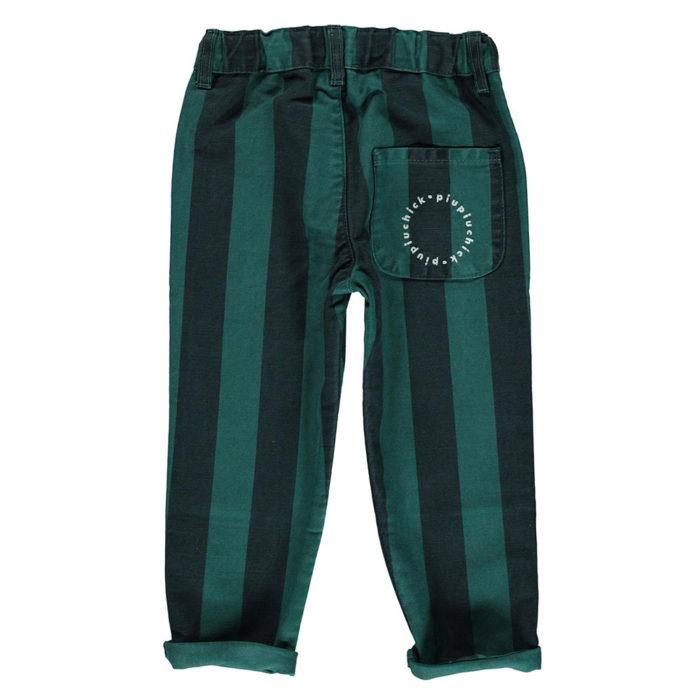 Hose Unisex Smaragd gestreift von Piupiuchick auf www.mina-lola.com