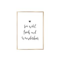 Artprint Wild Frech und Wunderbar Eulenschnitt auf www.mina-lola.com