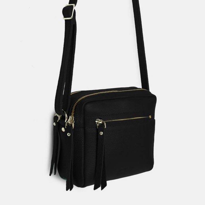Cubo Mini Bag Grained Black Ann Kurz auf www.mina-lola.com