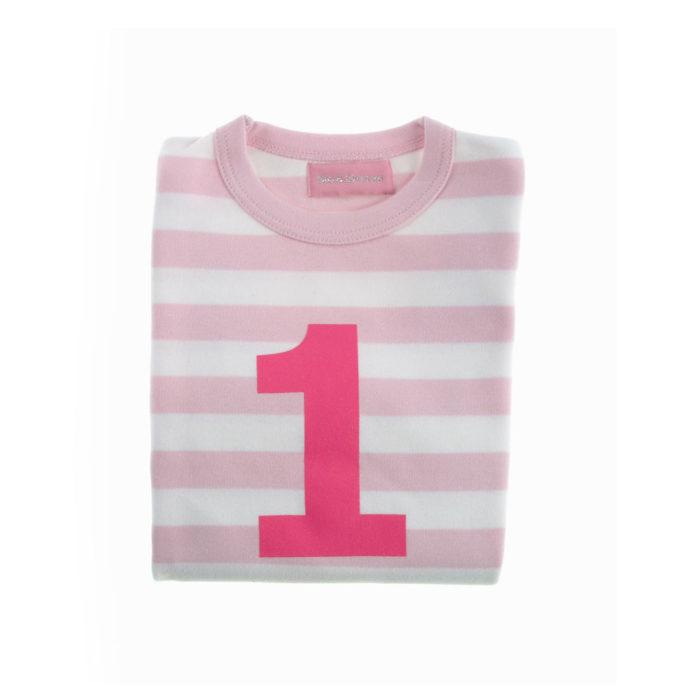 Geburtstagsshirt 1 pink-weiß auf mina-lola.com von Bob&Blossom