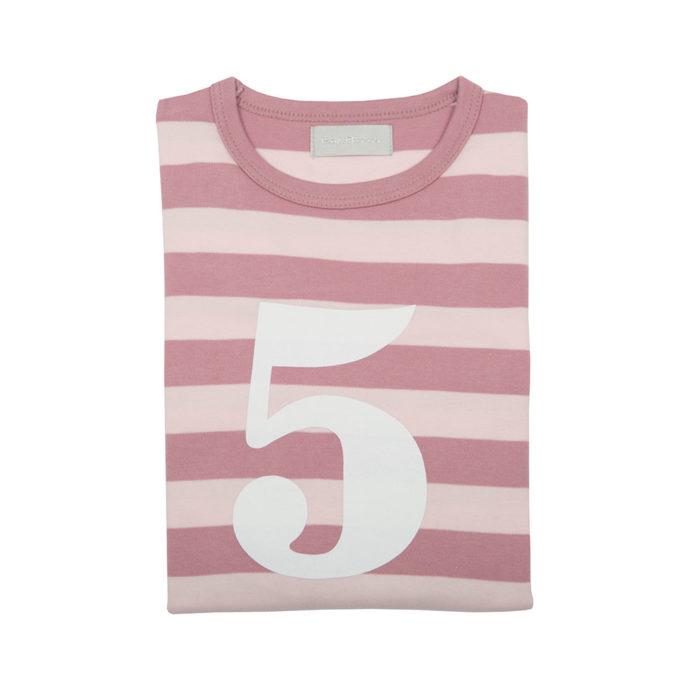 Geburtstagsshirt 5 Vintage-Powder Pink von Bob&Blossom auf www.mina-lola.com