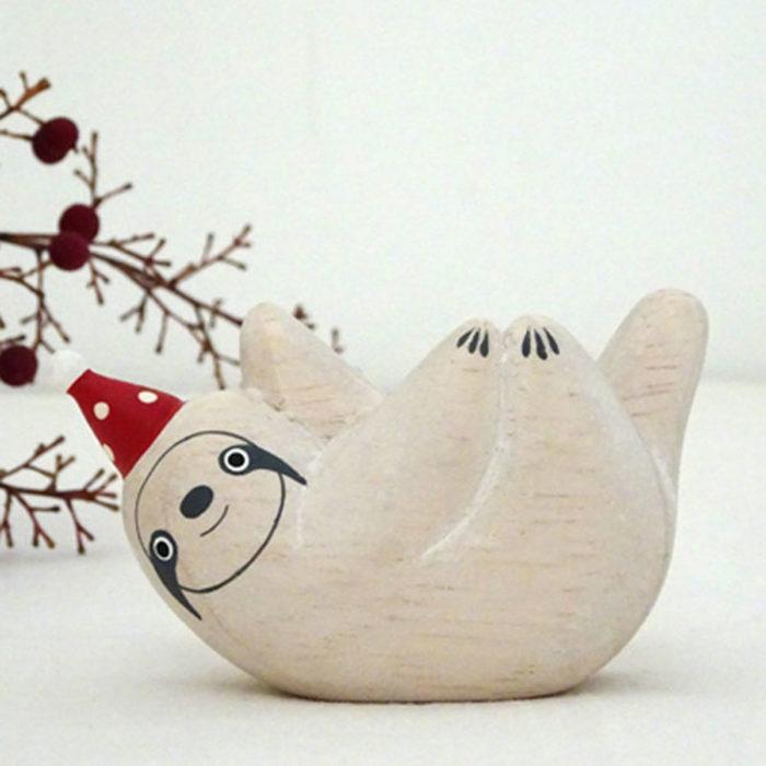 Holztier Christmas Faultier T-Lab auf www.mina-lola.com