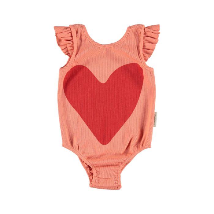 Body Red Heart mit Rüschen Piupiuchick auf www.mina-lola.com