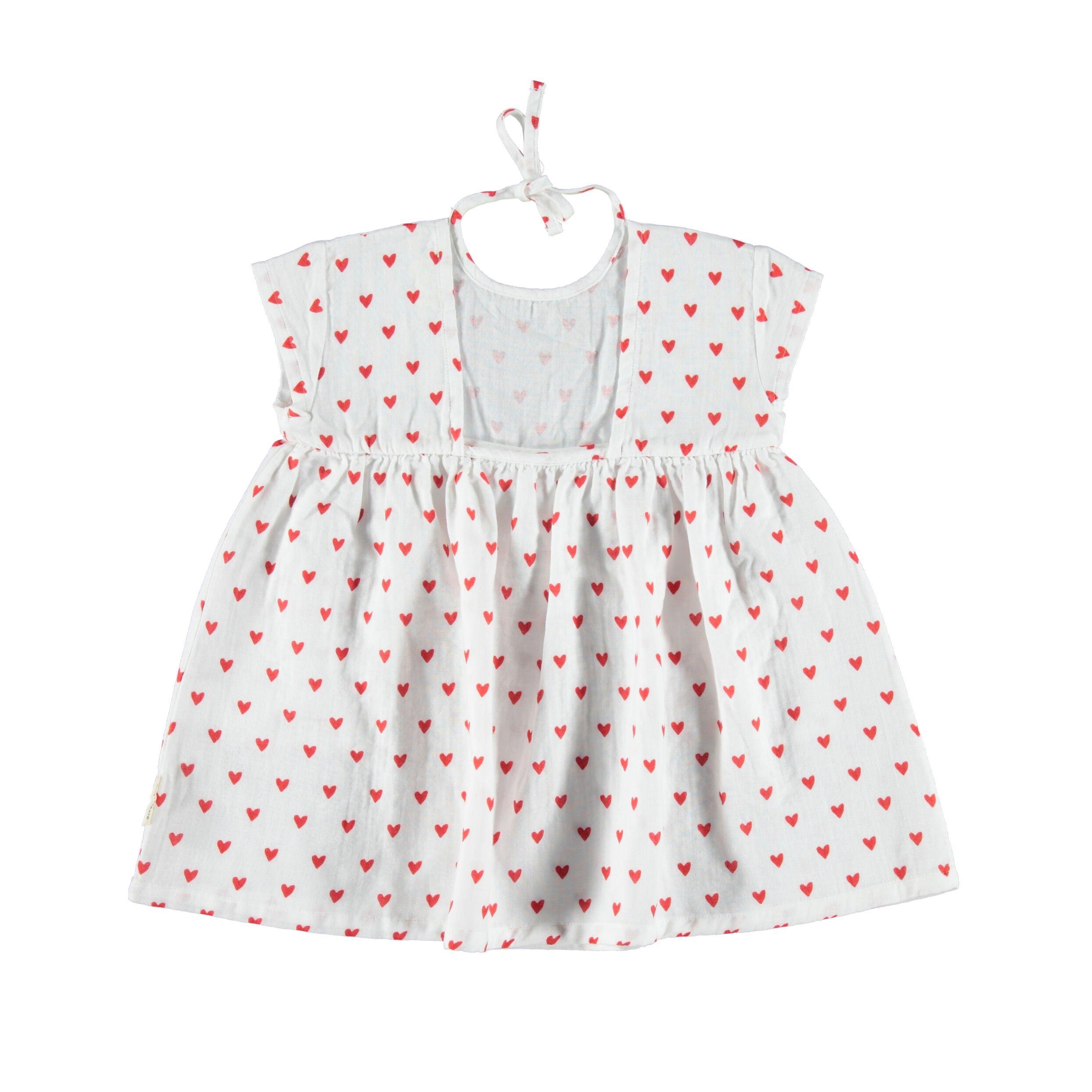 Kurzes Kleid mit Herzen Piupiuchick auf www.mina-lola.com