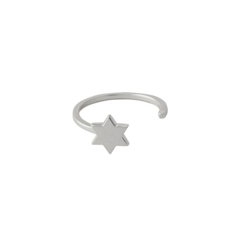 Ring STAR in silber Design Letters auf www.mina-lola.com