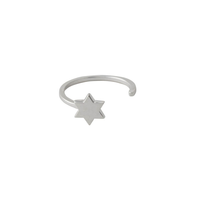 Ring STAR in silber Design Letters auf www.mina-lola.com
