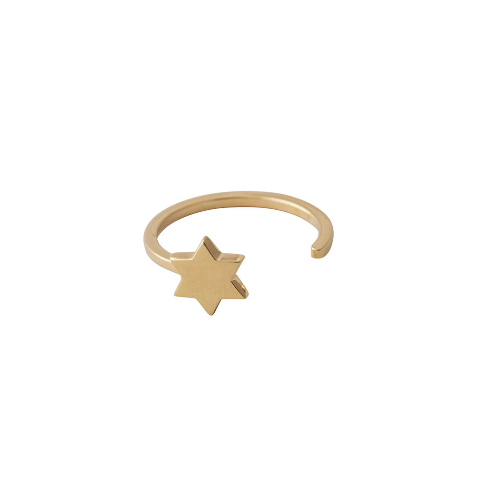 Ring STAR in gold Design Letters auf www.mina-lola.com