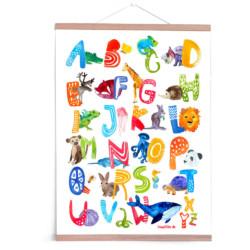ABC Poster Wilde Tiere von Frau Ottilie auf www.mina-lola.com