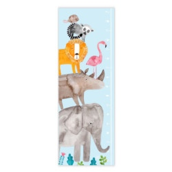 Messlatte Tiere von Frau Ottilie auf www.mina-lola.com