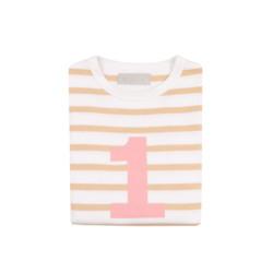 Geburtstagsshirt 1 Biscuit Breton-White von Bob&Blossom auf www.mina-lola.com