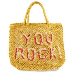 Korbtasche YOU ROCK Gelb-Rot von The Jacksons auf www.mina-lola.com