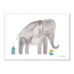 Print Elefant von Frau Ottilie