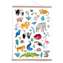 Poster Tiere von Frau Ottilie