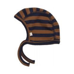 Babymütze NY Amber-Blue-Striped Minimalisma auf www.mina-lola.com