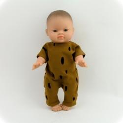 Puppenoverall Strampler Karamel Babypuppe Gordi auf www.mina-lola.com